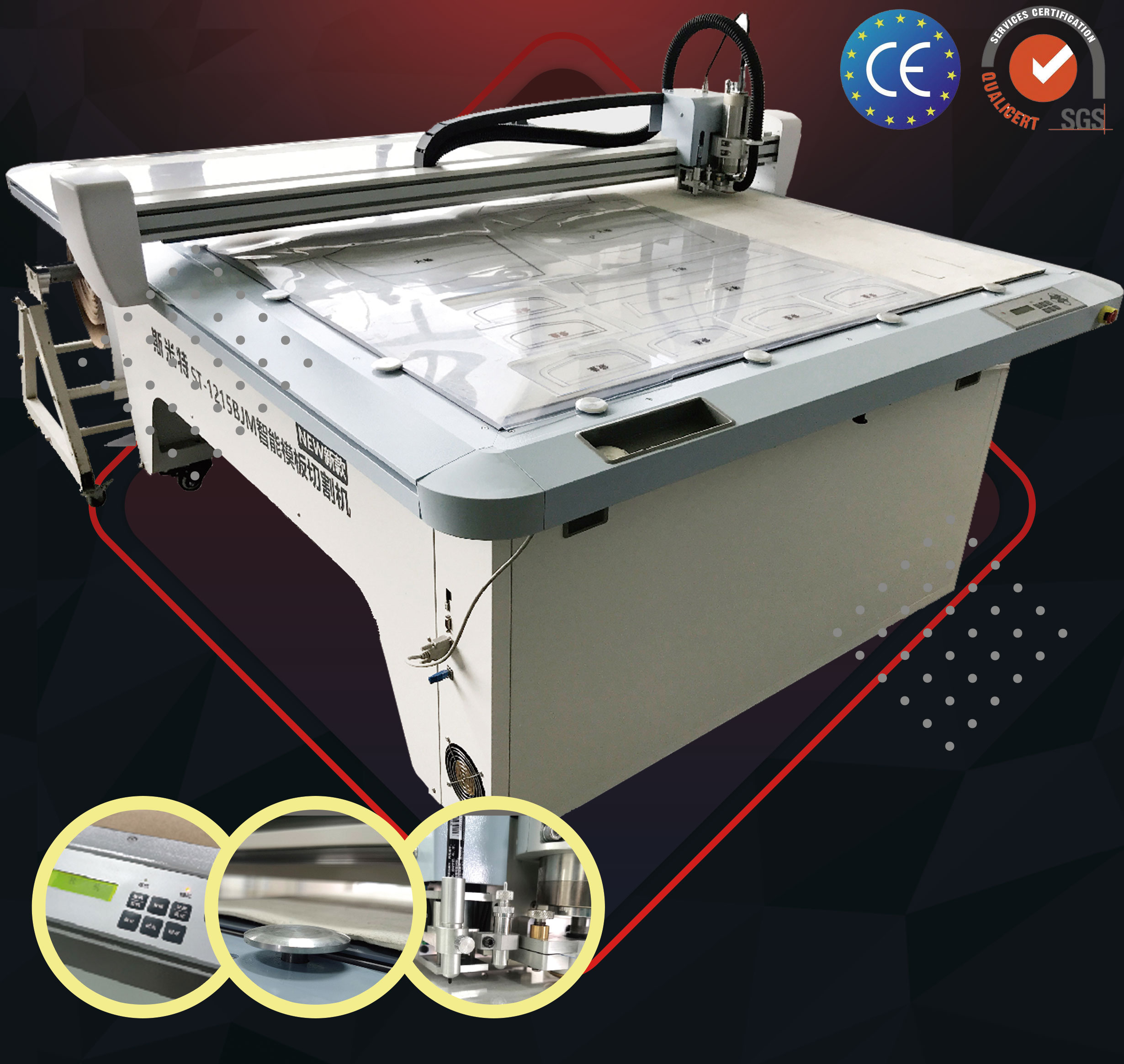 SIngle Ply Acrylic Template Cutting Machine